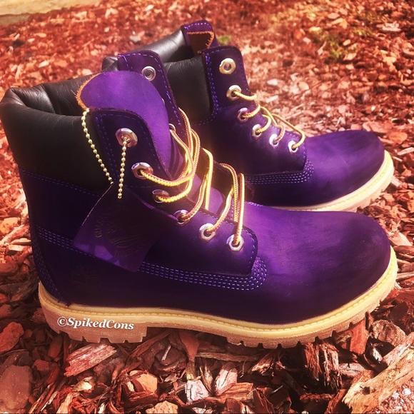 Custom Purple Timberlands NWT
